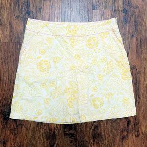L.L. Bean Pleated Front Cotton Skirt size 14P